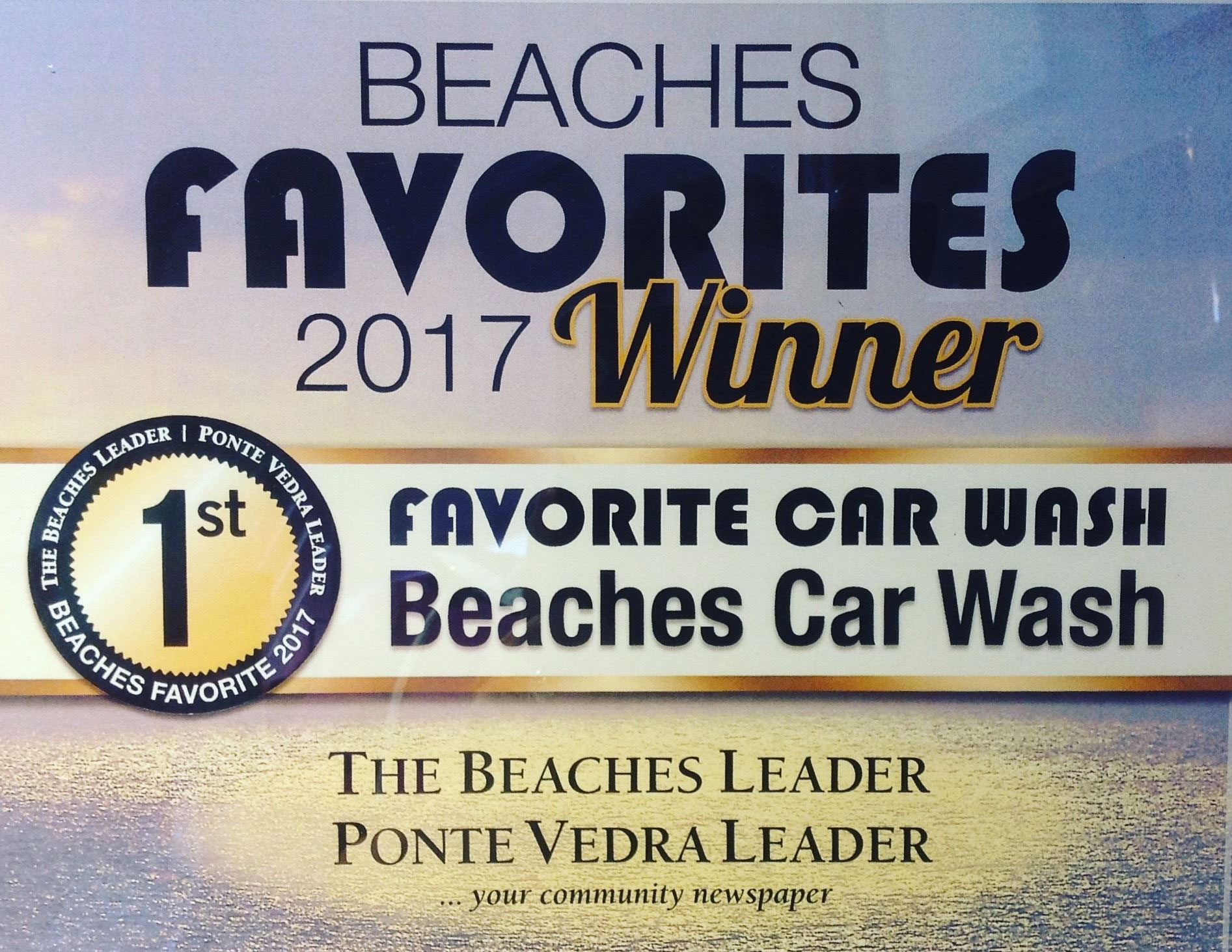 BCW Voted Favorite Car Wash 2017